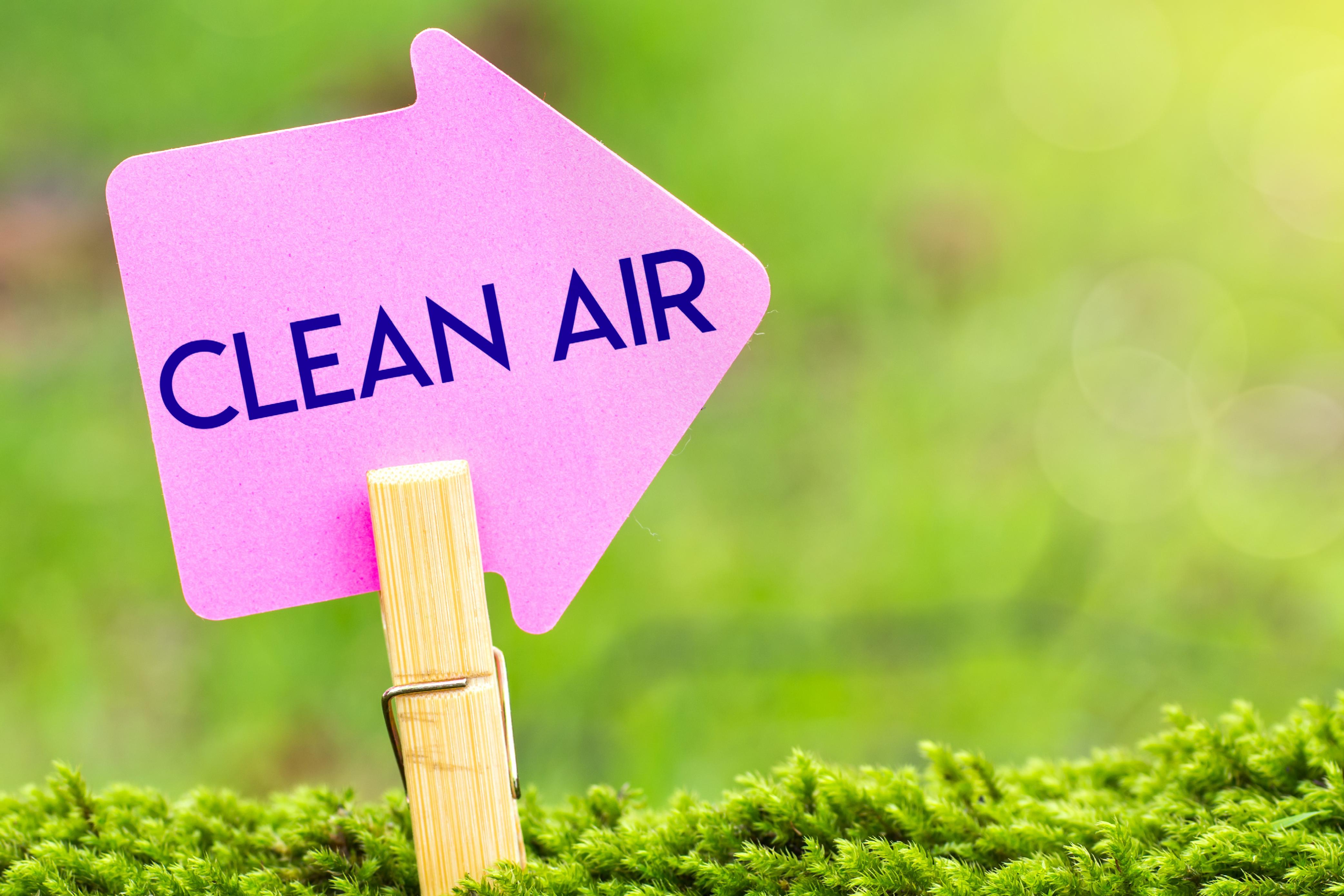 Clean Air Sign